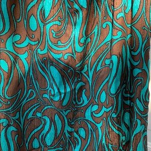 Trina Turk Dresses - Trina Turk Blue/Brown Silk Print Dress Size 4